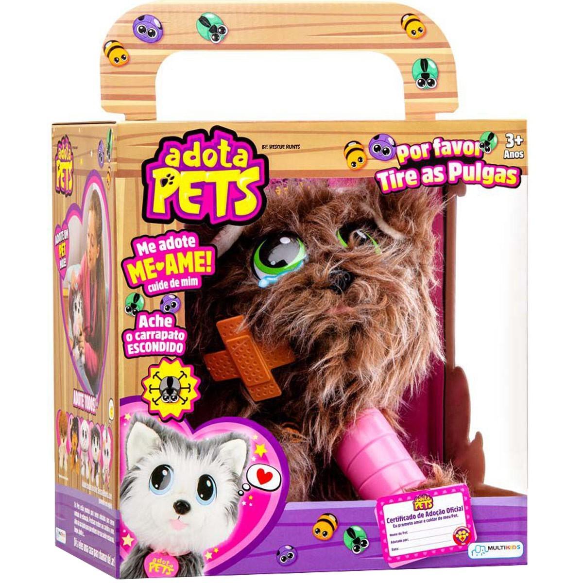 Pelucia Para Pentear Adota Pets Com Acessórios Scott