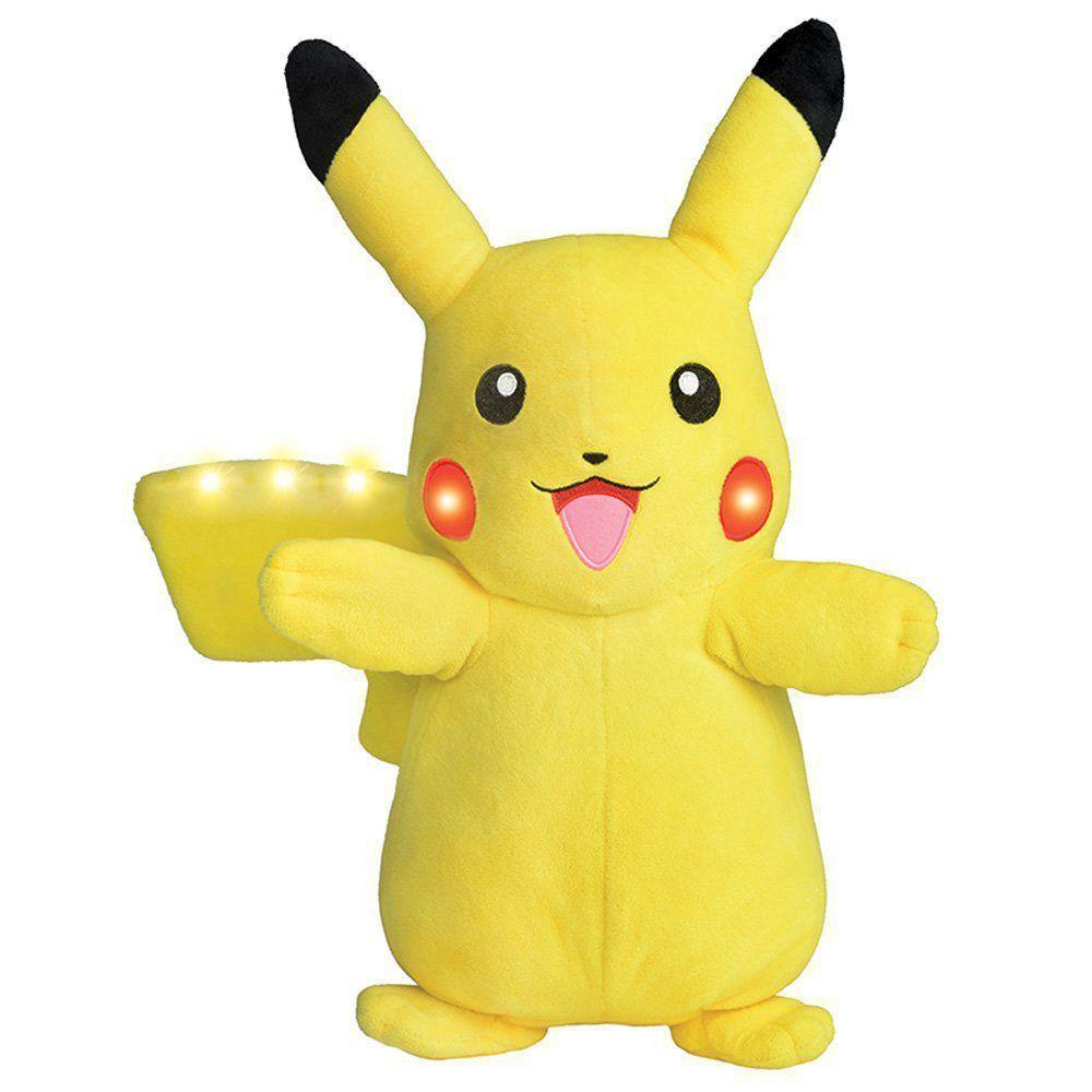 Pelúcia Pokemon Picachu com Luz e Som Dtc 4851