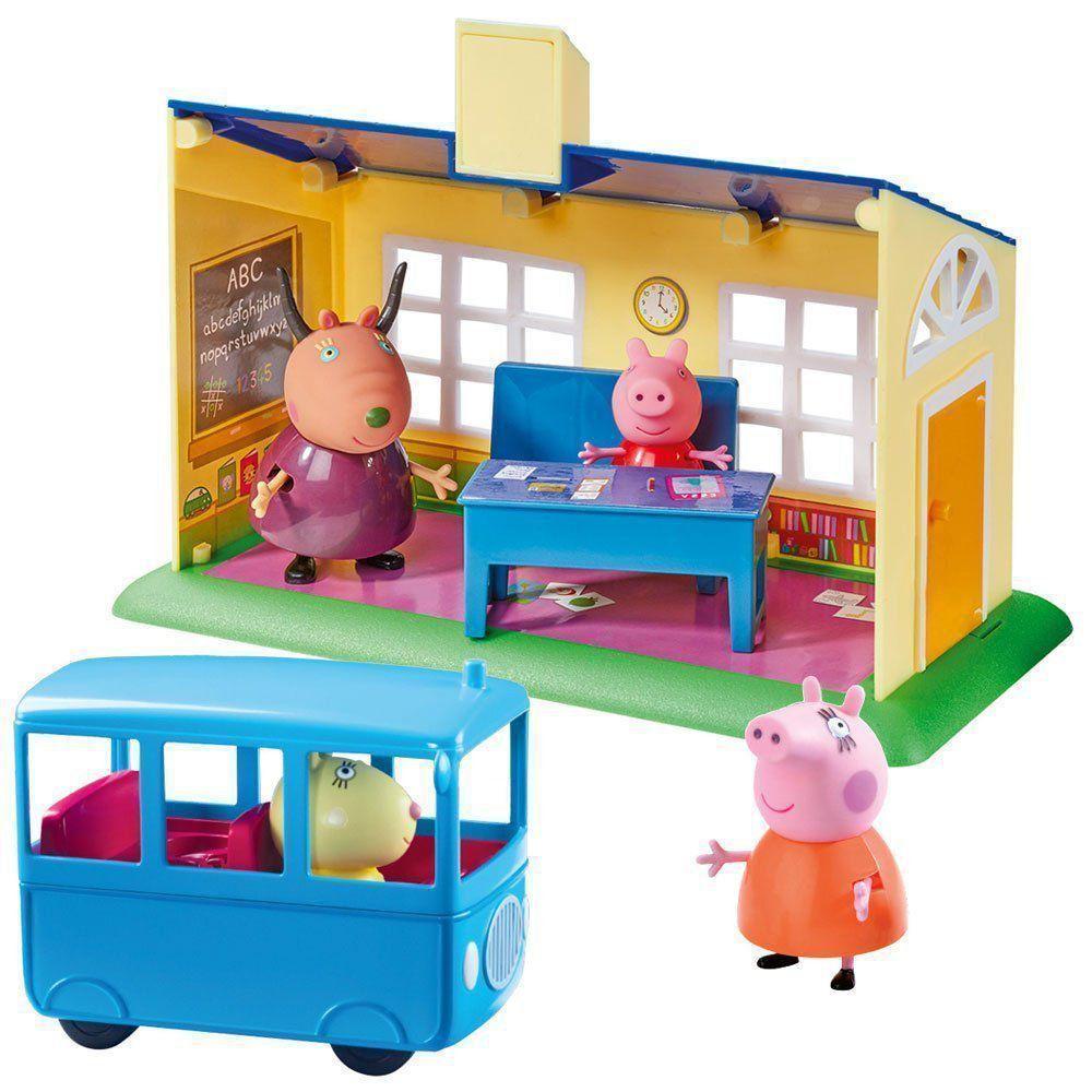 Peppa Pig Escolinha E Ônibus Escolar DTC 4858