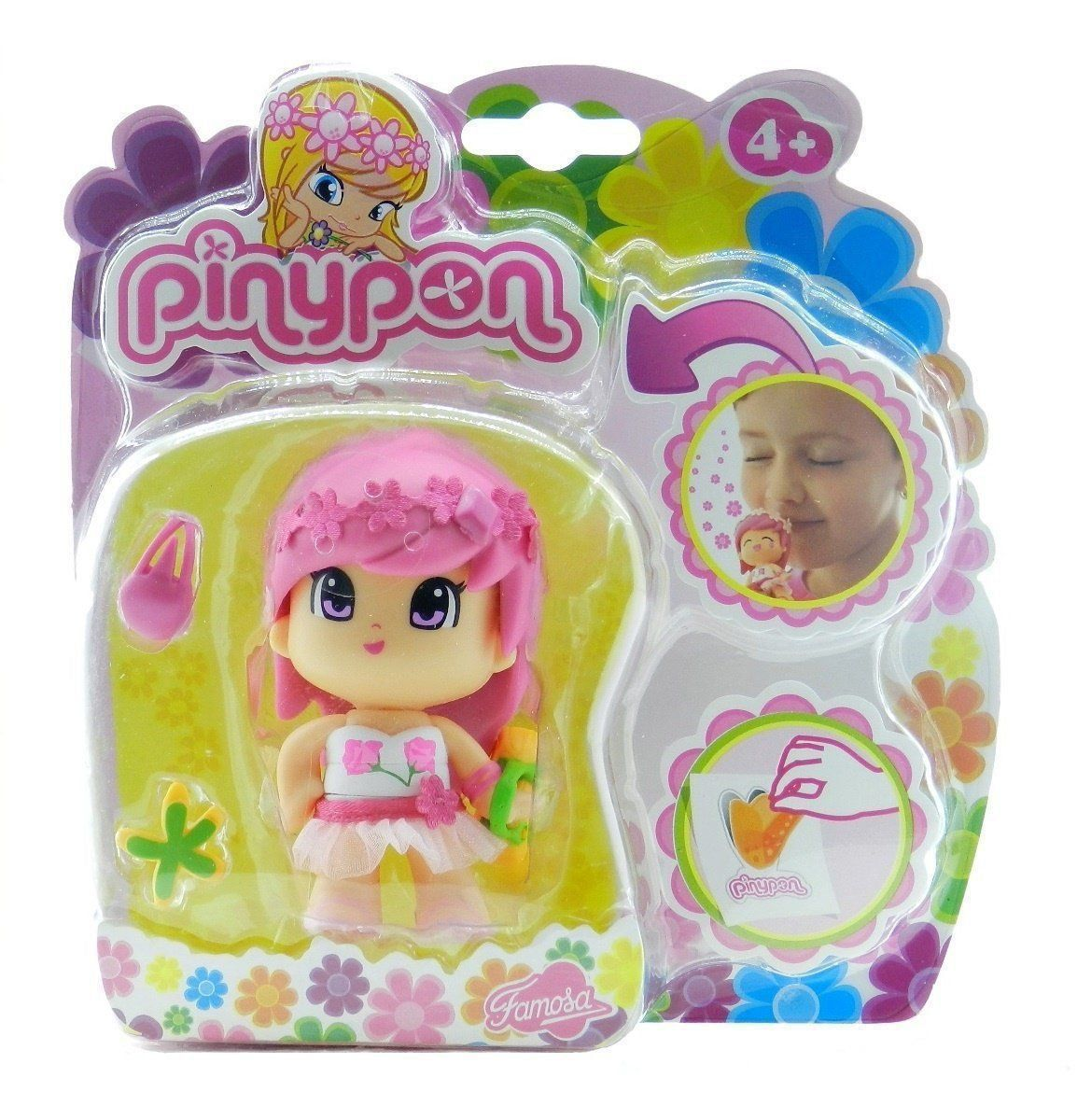 PINYPON FLORES ROSA DISPLAY BR347