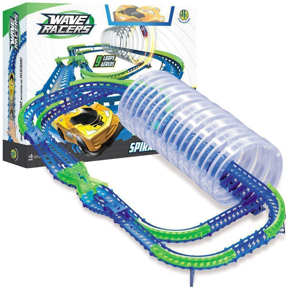Pista Wave Racers Spiral Frenzy Corrida De Ondas Dtc 4712