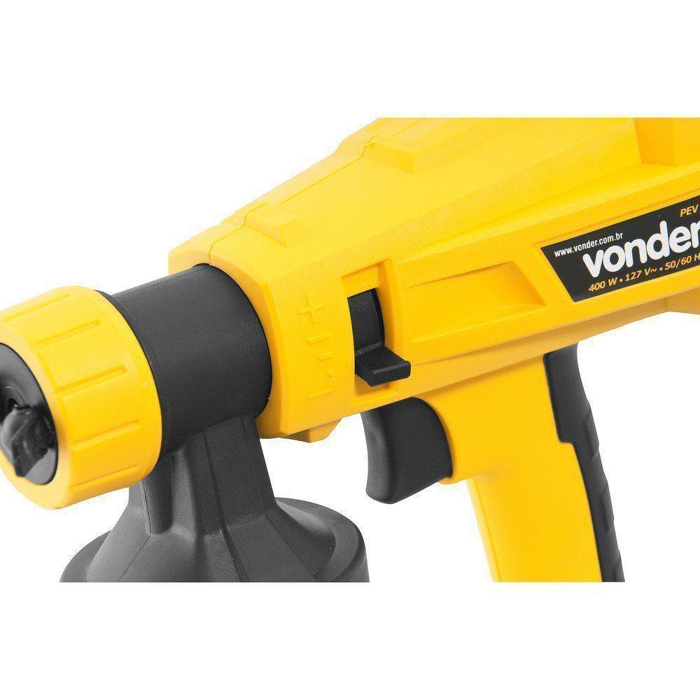 Pistola Pintura Elétrica Dispensa Uso Compresor Vonder 110V