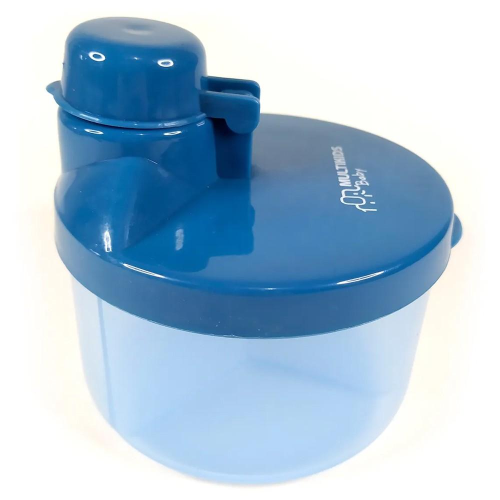 Pote Dosador Leite Em Pó Fórmula 3 Divisões Azul Funny Meal Multikids BB057