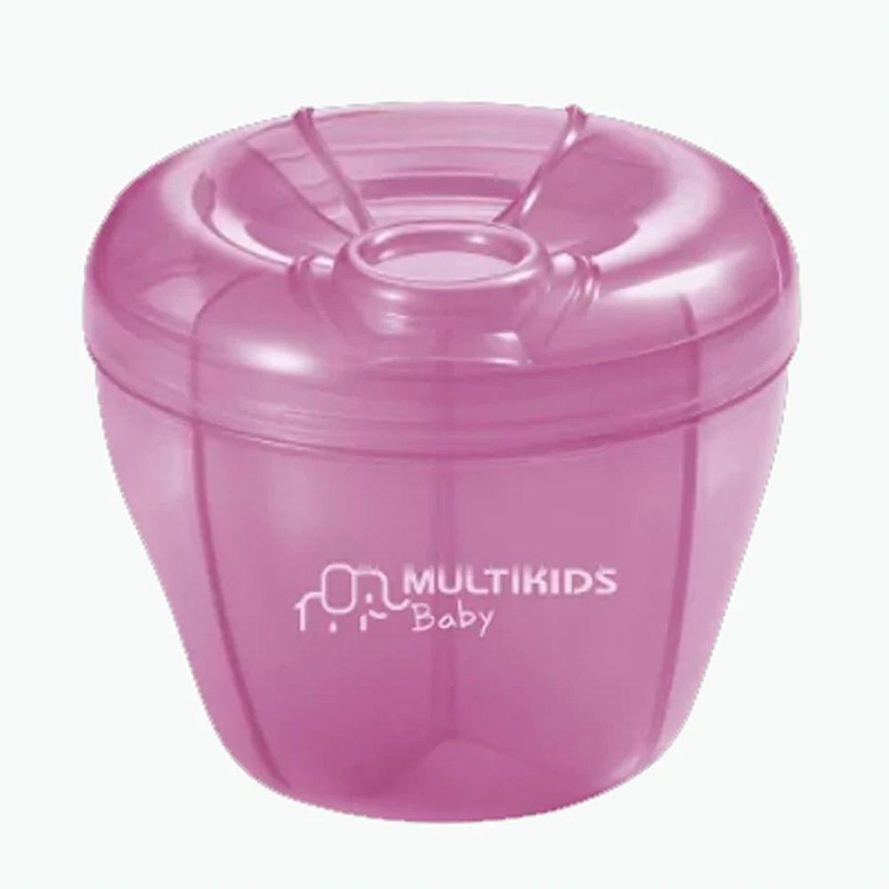 Pote Dosador Leite Em Pó Fórmula 4 Divisões Rosa Funny Meal Multikids BB058