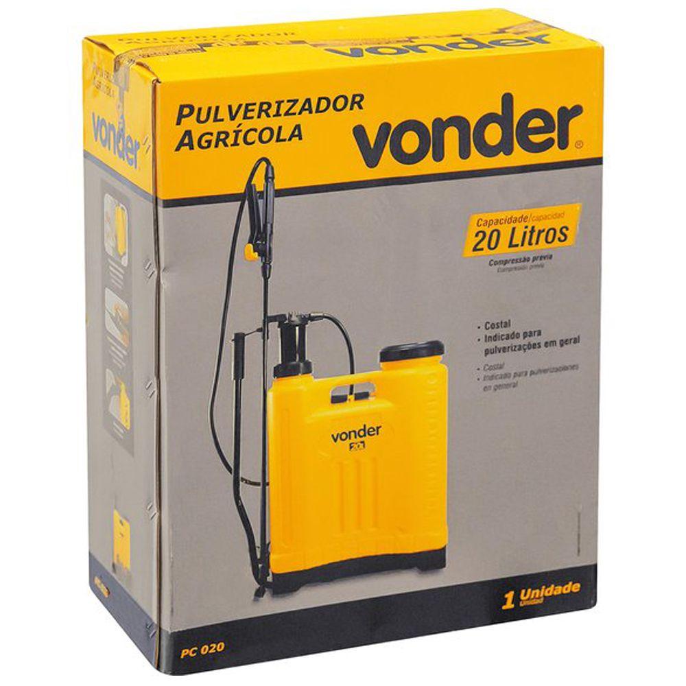 Pulverizador Agricola Vonder Capacidade de 20 Litros PC020