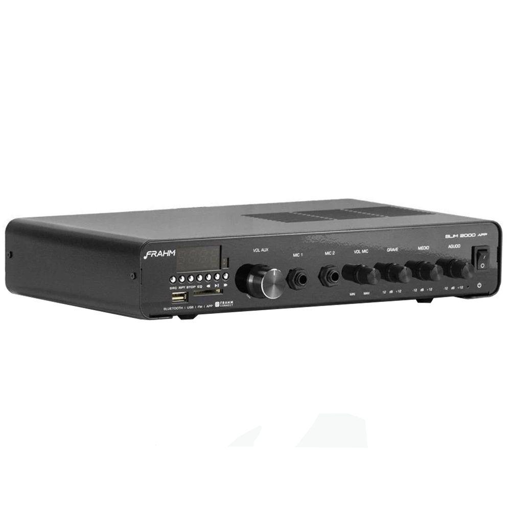 Receiver Amplificador Frahm Slim 2000 APP G2 BT USB FM SD