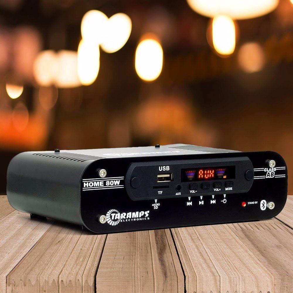 Receiver Amplificador Taramps Home 80 Bluetooth Bivolt 4 Canais 80W RMS