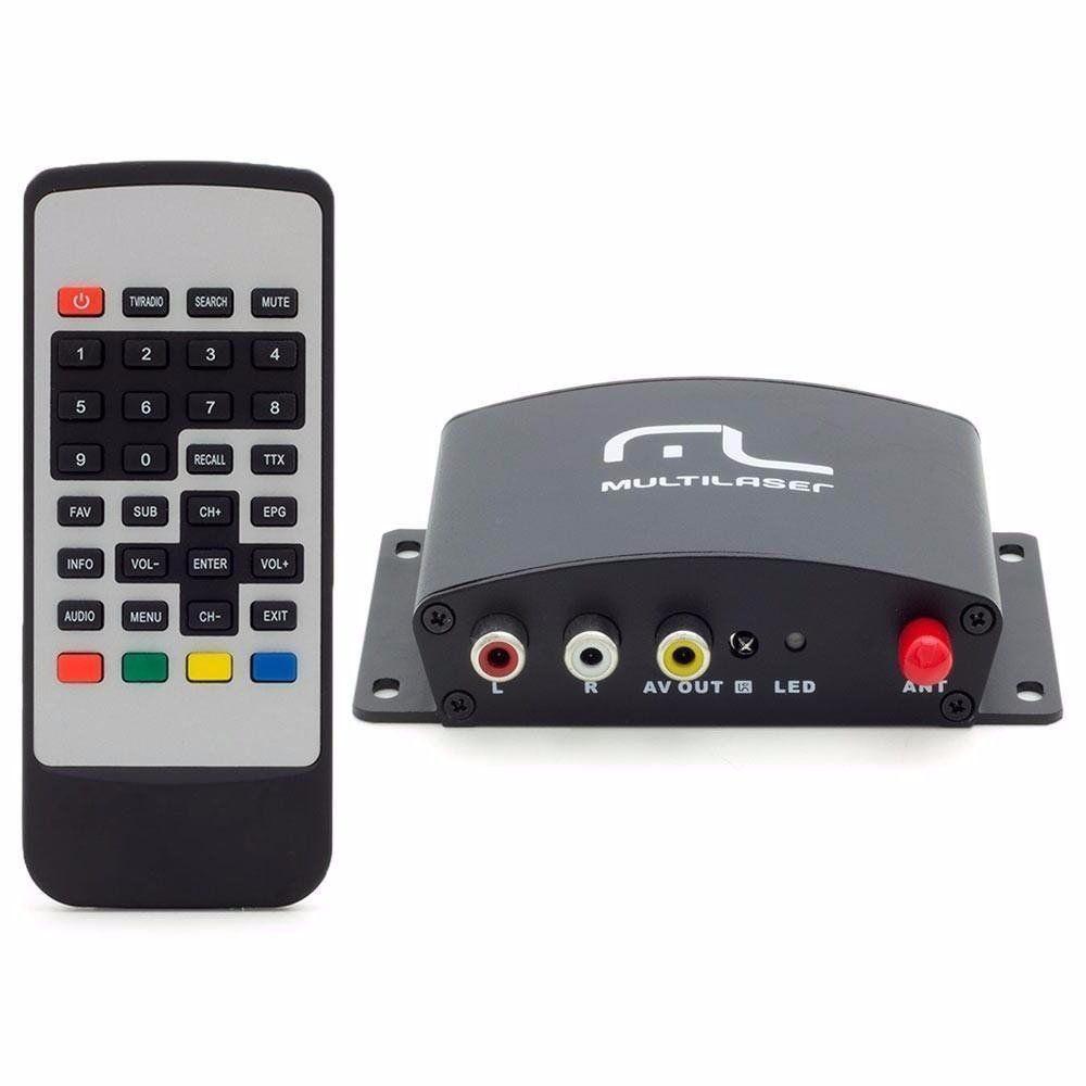 Receptor Conversor Tv Digital Automotivo Veicular Multilaser AU907
