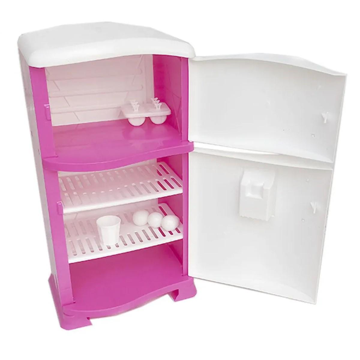 Geladeira Infantil Disney Com Porta Prateleiras Refrigerador Com Acessórios Pop Princesas Xalingo