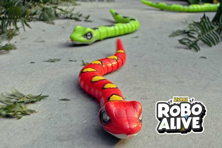 Robô Alive Cobra Coral Vermelha Rasteja Zuru Animais Dtc 4147