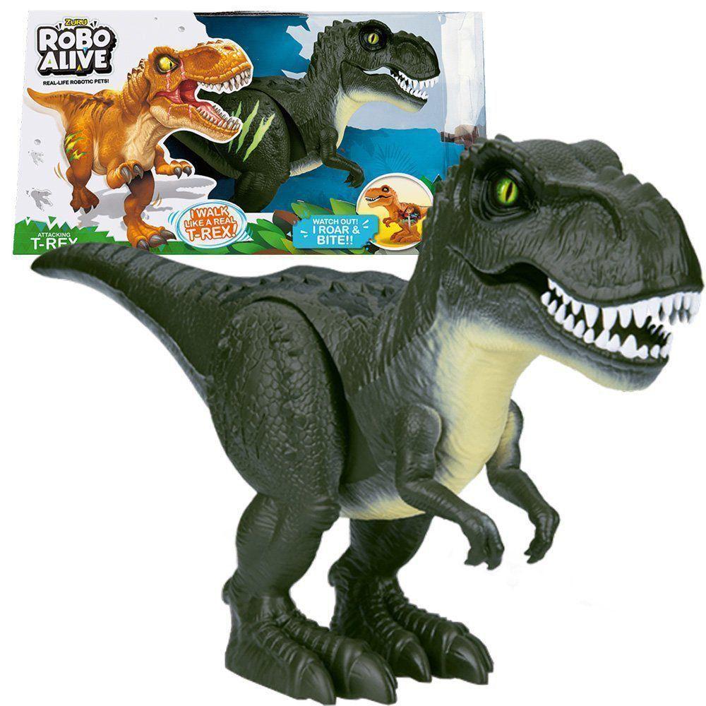 Robo Alive Dinossauro T-rex Com Som Anda E Olhos Realista Dtc 4828