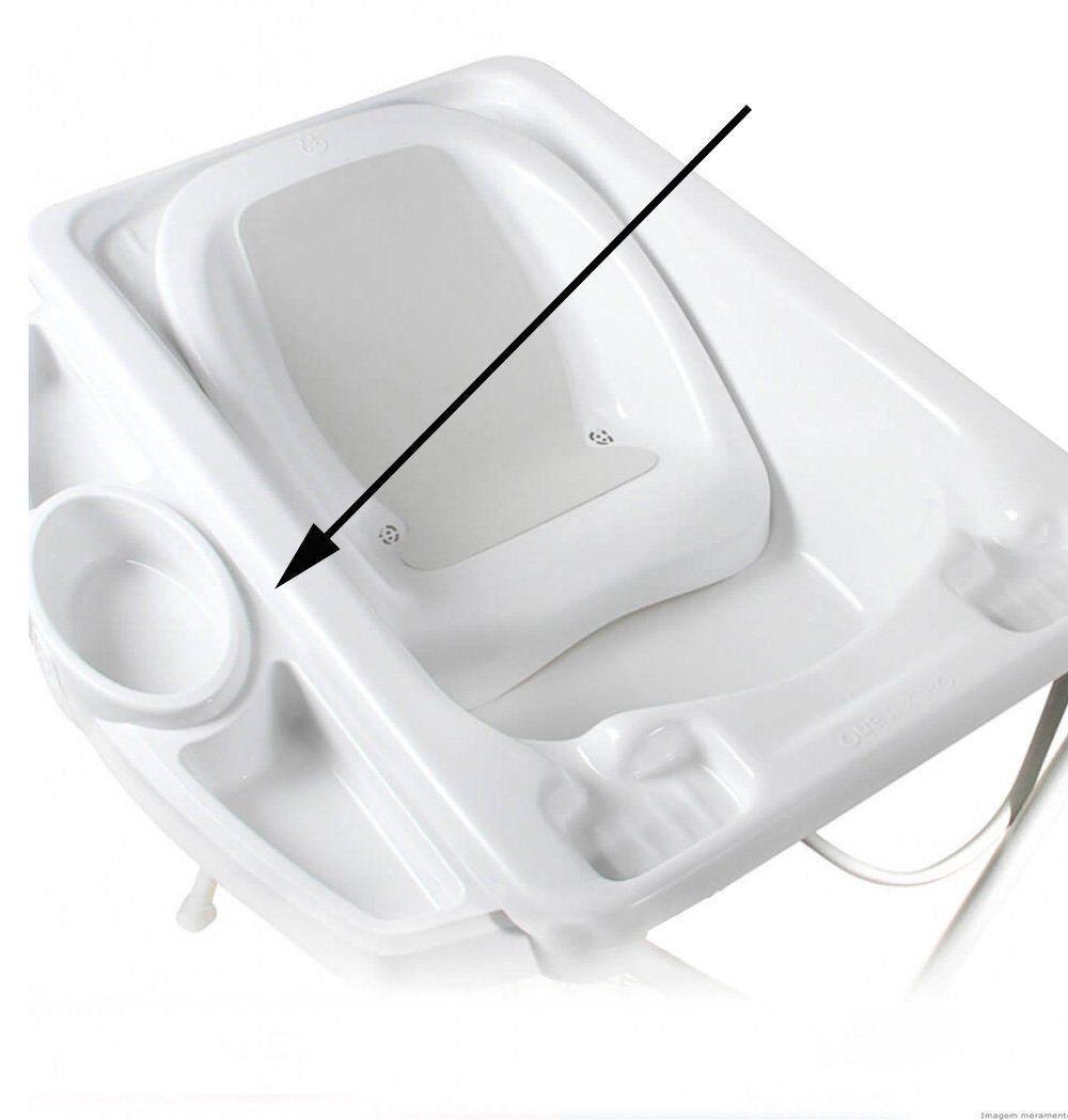 Saboneteira Banheira Bebe Plastica Branca Avulsa Galzerano 9013BC