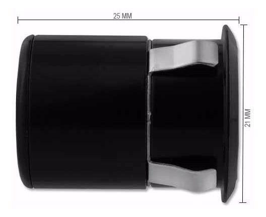 Sensor de Estacionamento Preto + Câmera de Ré com Visão Noturna