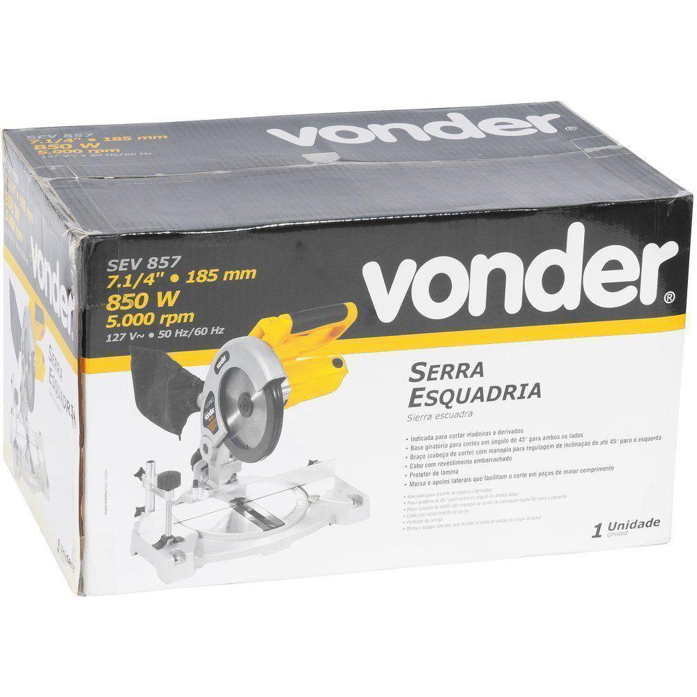Serra Meia Esquadria 7.1/4 850w 5.000rpm SEV857 Vonder 127V