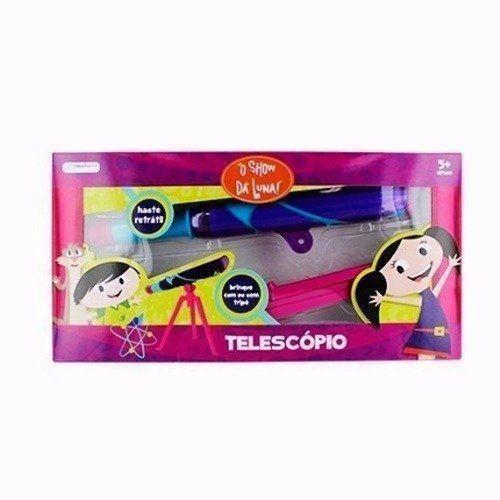 Show Da Luna Telescópio Infantil Luneta Rosa Multikids BR483