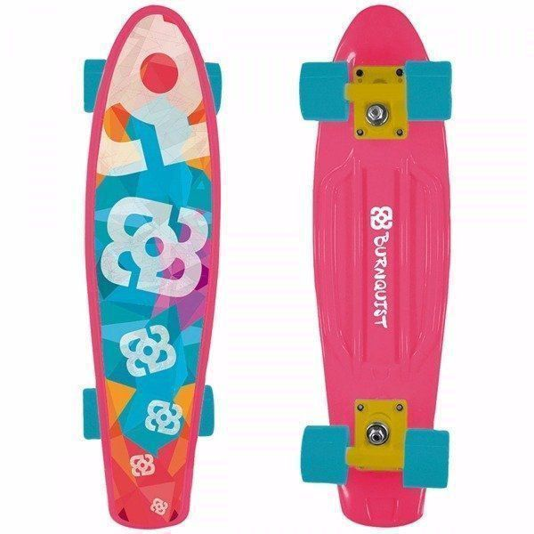 Skate Mini Cruiser Atrio Multilaser Bob Burnquist Rosa Es092
