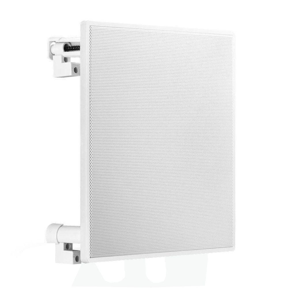 Slim Wall Branco Frahm + 2 Arandelas Quadradas Full Range
