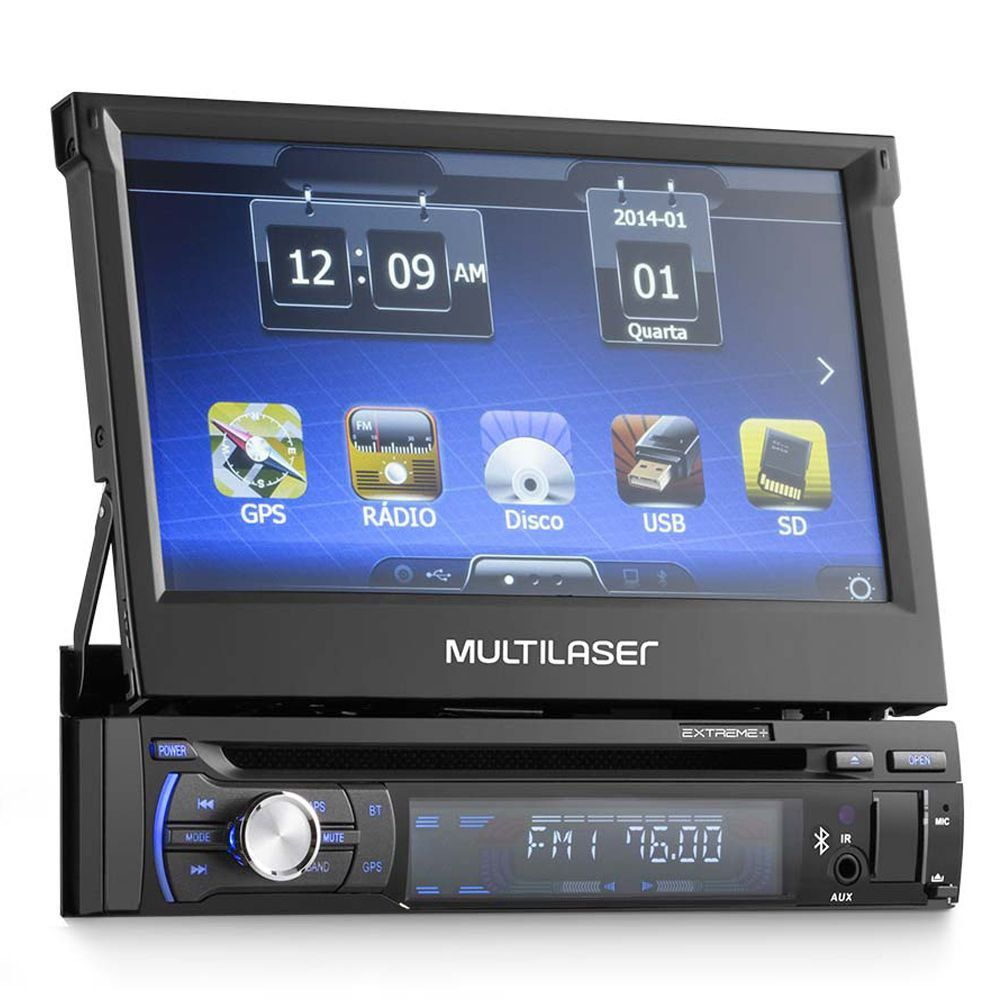 Som Automotivo Dvd Player Extreme Com GPS Tela 7 Bluetooth