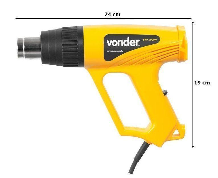 Soprador Térmico Profissional Ar Quente Pistola 220v 2000w