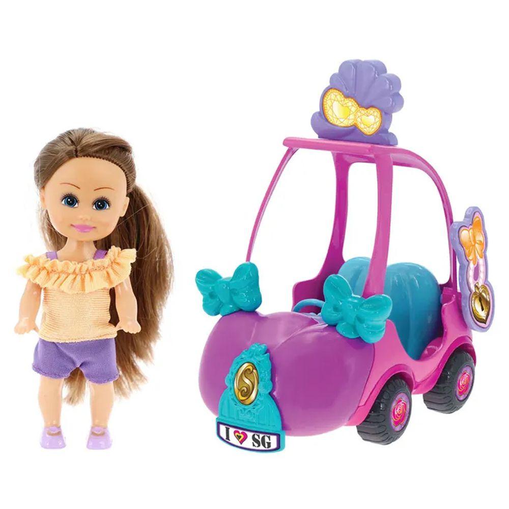 Sparkle Girlz Carro Mini Rosa e Roxo Sparkles DTC 4806