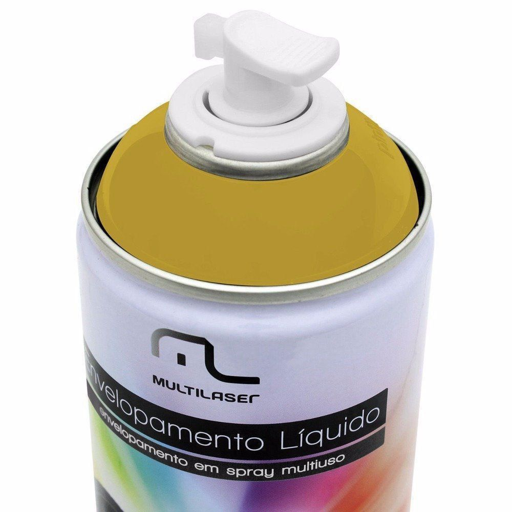 Spray de Envelopamento Liquído Dourado 400ml Multilaser AU422