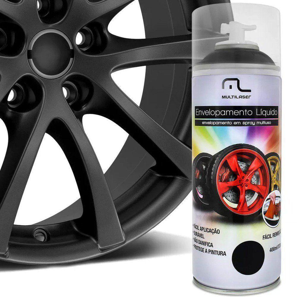 Spray de envelopamento liquido Preto Fosco 400ML Multilaser AU420