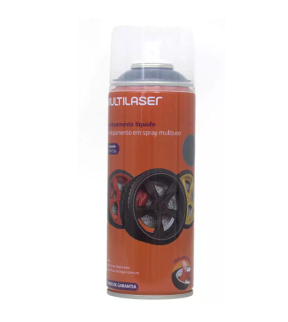 Spray Envelopamento Líquido 400 Ml Grafite Multilaser Roda AU429