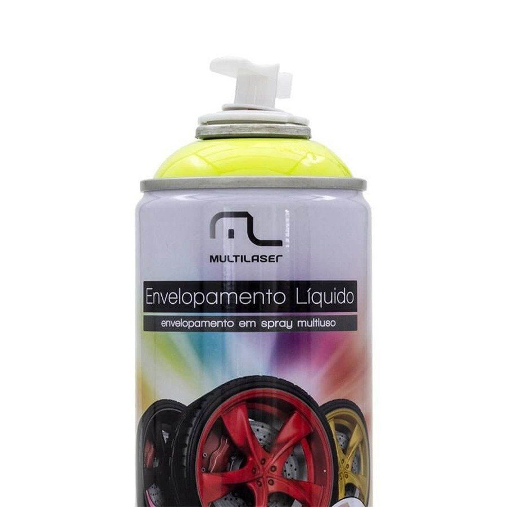 Spray Envelopamento Liquido Amarelo Fluorescente 400ML Multilaser AU427