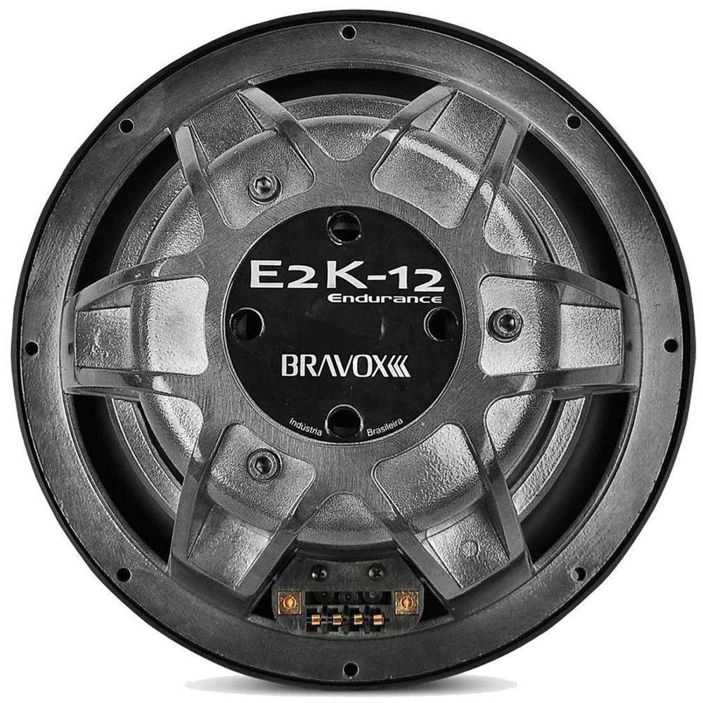 "Subwoofer Bravox Endurance E2K 12"" 800WRMS Bobina Dupla 4+4 Ohms"