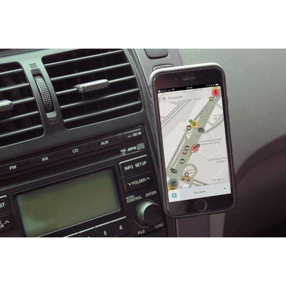 Suporte Magnetico Para Smartphone com Adesivo Painel AC324