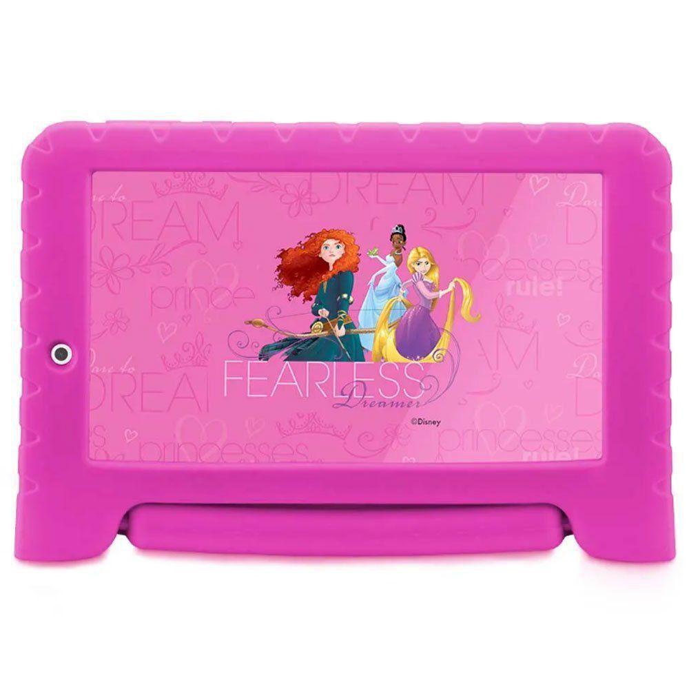 "Tablet Multilaser Disney Princesa Kid Pad 7"" Plus NB281"