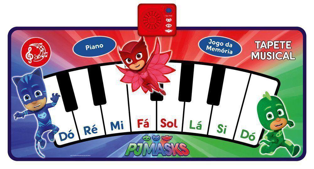 Tapete Musical Pj Masks Piano E Jogo Da Memória Dtc 4373