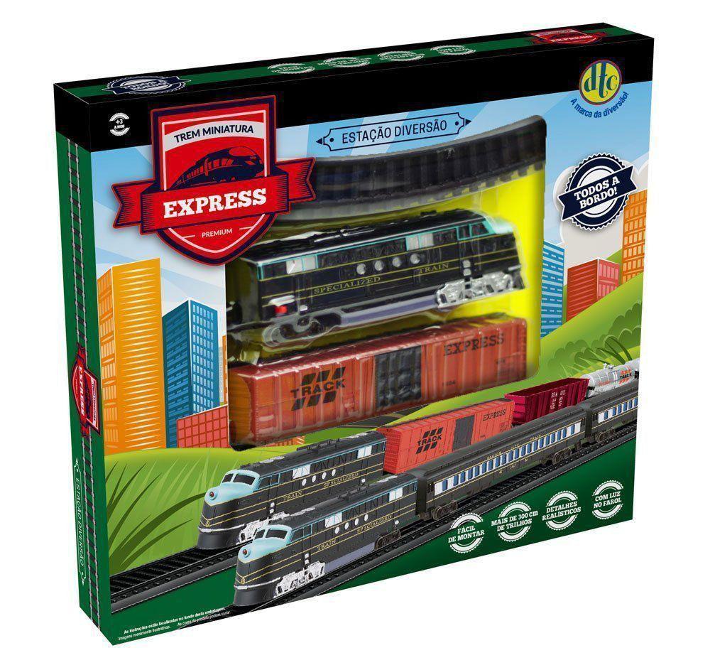 Trenzinho Elétrico Com Vagão e 300 Cm De Trilho Dtc 4163