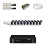 KIT 10 Câmeras Alta Resolução AHD + DVR Intelbras 16 Canais HD + Acessórios