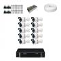 KIT 10 Câmeras Alta Resolução + DVR Intelbras 16 Canais HD + Acessórios