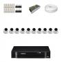 KIT 10 Câmeras Dome AHD + DVR Intelbras 16 Canais HD + Acessórios