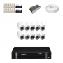 KIT 10 Câmeras Dome HD 720p + DVR Intelbras 16 Canais HD + Acessórios