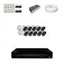 KIT 10 Câmeras HD 720p + DVR 16 Canais 1080n +  Acessórios