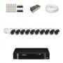 KIT 10 Câmeras Infra 1200 Linhas + DVR Intelbras 16 Canais HD + Acessórios