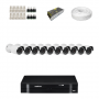 KIT 10 Câmeras HD 720p + DVR Intelbras 16 Canais HD + Acessórios