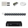 KIT 10 Câmeras Intelbras VHD 1010 B G4 + DVR Intelbras 16 Canais HD + Acessórios