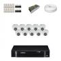KIT 10 Câmeras Intelbras VHD 1010 D G4 + DVR Intelbras 16 Canais HD + Acessórios