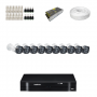 KIT 10 Câmeras Intelbras VHD 1120 B G4 + DVR Intelbras 16 Canais HD + Acessórios