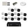 KIT 10 Câmeras Intelbras VHD 1120 B G5 + DVR Intelbras 16 Canais HD + Acessórios