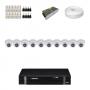 KIT 10 Câmeras Intelbras VHD 1120 D G4 + DVR Intelbras 16 Canais HD + Acessórios