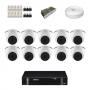 KIT 10 Câmeras Intelbras VHD 1120 D G5 + DVR Intelbras 16 Canais HD + Acessórios