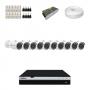 KIT 10 Câmeras Intelbras VHD 3230 B G4 + DVR Intelbras 16 Canais Full HD + Acessórios