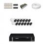 KIT 12 Câmeras HD 720p + DVR Intelbras 16 Canais HD + Acessórios