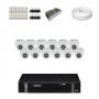 KIT 12 Câmeras Intelbras VHD 1010 D G4 + DVR Intelbras 16 Canais HD + Acessórios