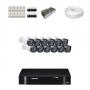 KIT 12 Câmeras Intelbras VHD 1120 B G4 + DVR Intelbras 16 Canais HD + Acessórios